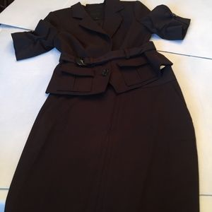 The Limited Studio 400 brown skirt suit